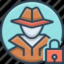 protection, investigate, anti theft, anti, hacker, theft icon