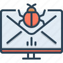 box, document, email, mail, management, spam, spam management icon