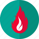 caution, danger, fire, flame, hazard, risk, stake icon