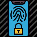 fingerprint, lock, screen, safe, protect, safety, security