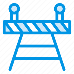 barrier, construction, path, road, secure, traffic, transport icon
