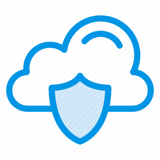 cloud, cloudy, protect, safe, security, shield, sky icon