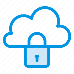 cloud, clouds, cloudy, lock, password, security, sky icon