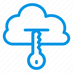 cloud, key, lock, private, secure, security, warning icon