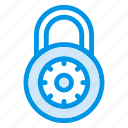 code, digital, lock, locked, locker, protection, secure icon