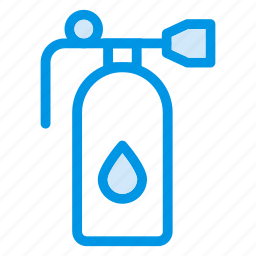 cylinder, figure, flask, gas, kitchen, oxygen, securityalert icon