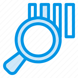analistic, bar, find, finder, graph, magnify, search icon