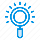 find, finder, magnify, magnifyglass, microscope, search, zoom icon