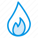 burning, extinguisher, fire, fireplace, flame, heat, hot icon