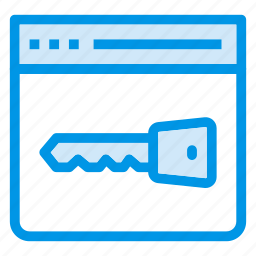 browser, key, lock, secure, security, web, words icon