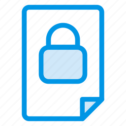 contract, document, file, lock, locked, private, security icon