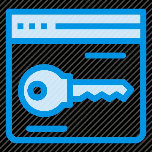 browser, key, keywords, lock, locked, secure, security icon