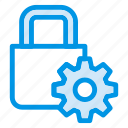gear, locker, protection, safe, secure, security, setting icon
