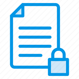 contract, document, file, key, lock, page, security icon