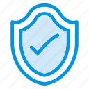 checkmark, encrypted, private, protected, secure, secured, verified icon