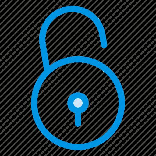 access, opened, security, unlock, unlocked, unlockpadlock, unsecure icon