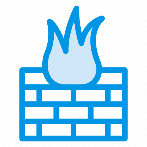 bricks, brickwall, firewall, flame, protect, security, wall icon
