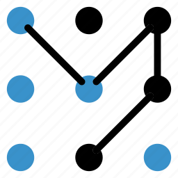 analytics, business, infographic, locked, lockscreen, pattenlock icon