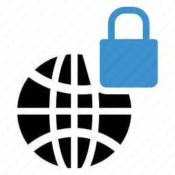 browser, lock, locked, private, protected, protection, security icon