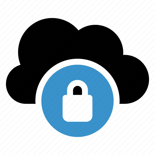 cloud, cloudy, lock, safety, secure, security, sky icon