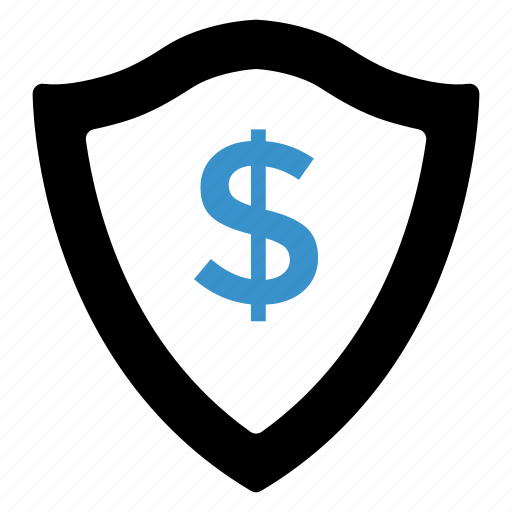 cash, coin, dollar, finance, protect, safe, security icon