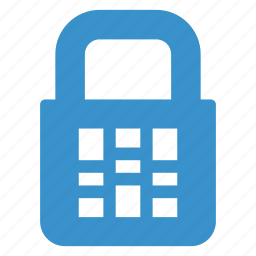 block, count, figure, lock, locker, protection, secure icon