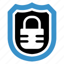 block, lock, locked, locker, secured, security, shield icon