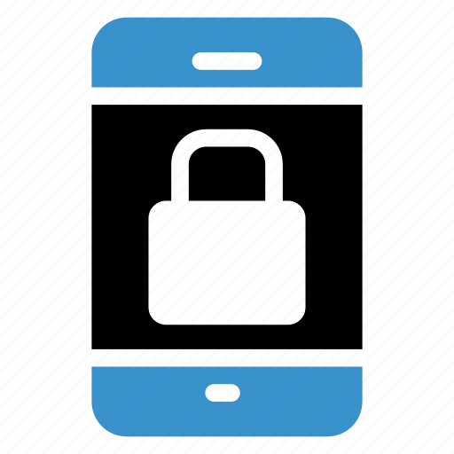 locked, mobile, phone, private, secure, security, smartphone icon