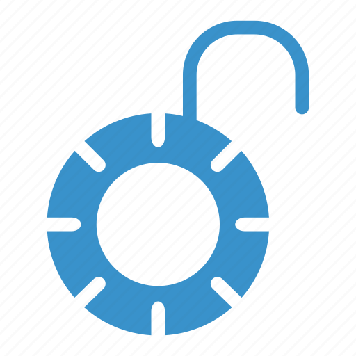 lock, open, opened, password, security, unlocked, unsecure icon