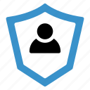 protect, protection, safety, secure, security, shield, user icon