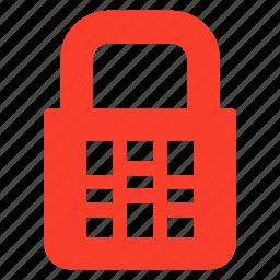 block, count, figure, lock, locker, protection, secure icon