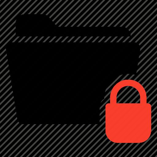close, closed, folder, lock, locked, protect, protection icon