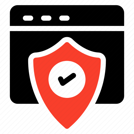 browser, private, protected, secure, security, shield, web icon