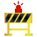 alert, area, diversion, road, sign, work icon