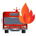 fire, firetruck, rescue, truck icon