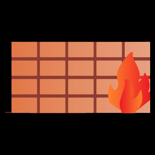 bricks, fire, wall icon