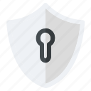 lock, safe, safety, secure, security, shield icon