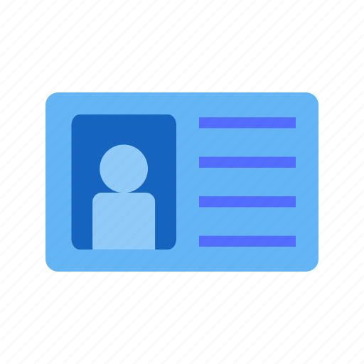 card, employee, id card, identification, identity, member, user icon