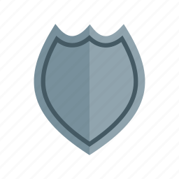 badge, cop, enforcement, officer, police, silver icon