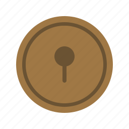door, enter, hole, key, keyhole, lock, open icon