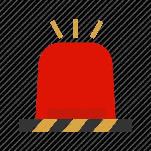 alert, blue, emergency, light, police, red, siren icon