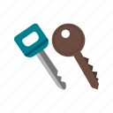 car, door, key, keys, lock, metal, security icon
