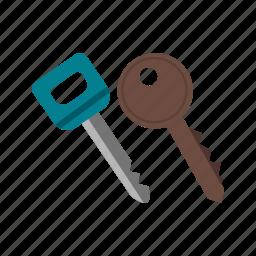 car, door, key, keys, lock, metal, security icon
