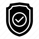 protected, safe, secured, security, shield icon
