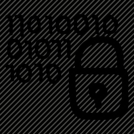 code, coding, lock, padlock, protect, security, userlock icon