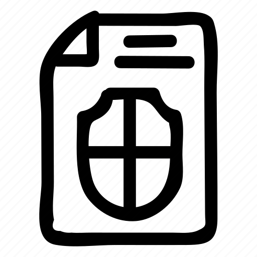 allow, investment, note, reportcard, safety, security, shield icon