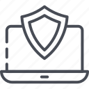 computer, protected system, protection, secure, system, technology, web icon