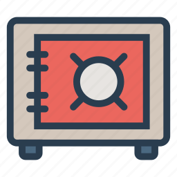bankvault, locker, moneylocker, protection, safe, secure, vault icon