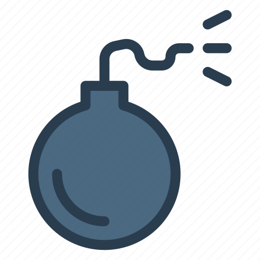 bomb, bombshell, caution, danger, exploading, explosive, safety icon