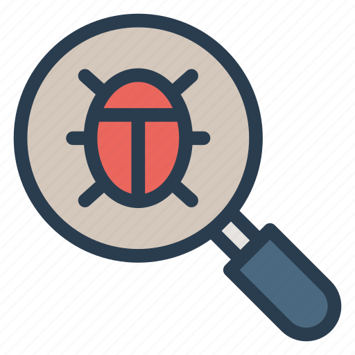 bug, bugfinder, finder, magnifier, magnify, search, tool icon
